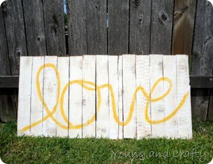 Love Pallet Art
