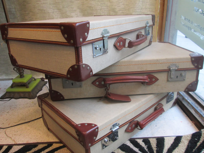 Navy Suitcase Trio 