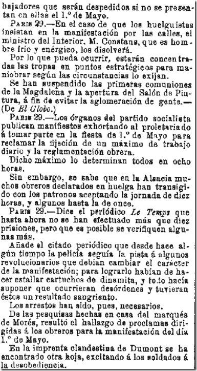 1890-04-30 - La Iberia - 01 (Preparativos del 1º de Mayo - Francia - 3)