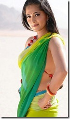 anushka-spicy-saree-photos-side boob visible show
