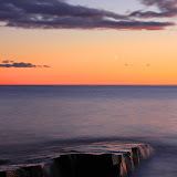 Sunset and Moon on Artist Point / Grand Marais / Minnesota