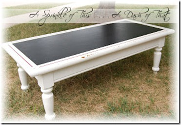 Chalkboard Coffee Table {A Sprinkle of This . . . . A Dash of That}