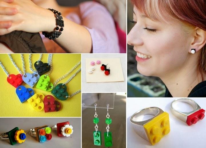 lego anel pulseira colar moda criatividade 2