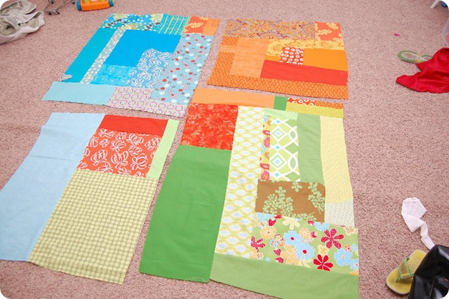 picnic quilt in progress