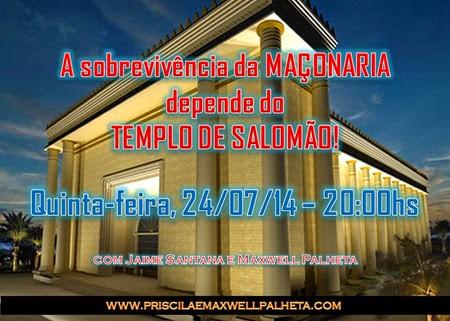 maçonaria edir macedo templo de salomão - Priscila e Maxwell Palheta