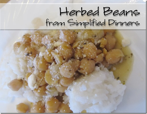 Simplified Dinners Herbed Beans
