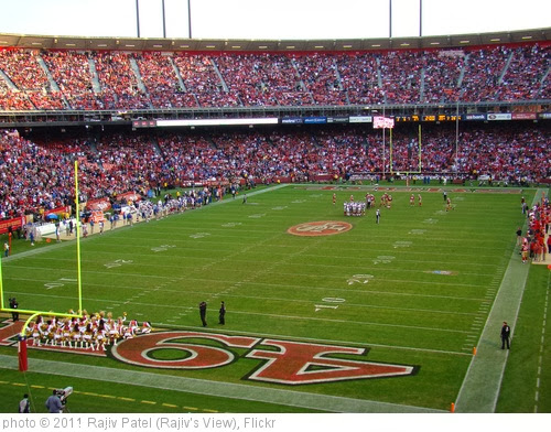 'Candlestick Park from North Endzone' photo (c) 2011, Rajiv Patel (Rajiv's View) - license: http://creativecommons.org/licenses/by-nd/2.0/