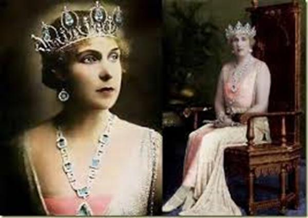 Primera versión de la tiara de aguamarinas de la reina Victoria