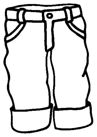 Pantalones Dibujos Para Colorear