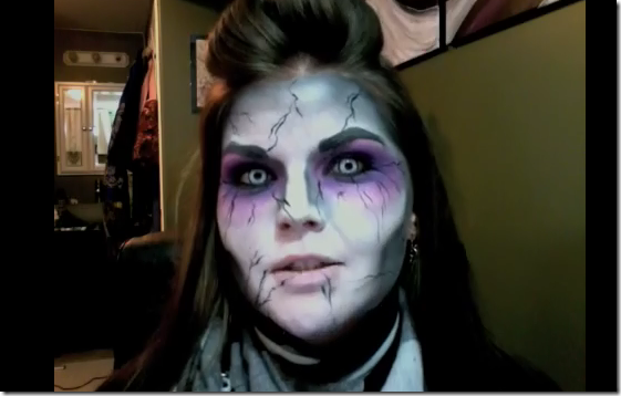 maquillaje zombie halloween