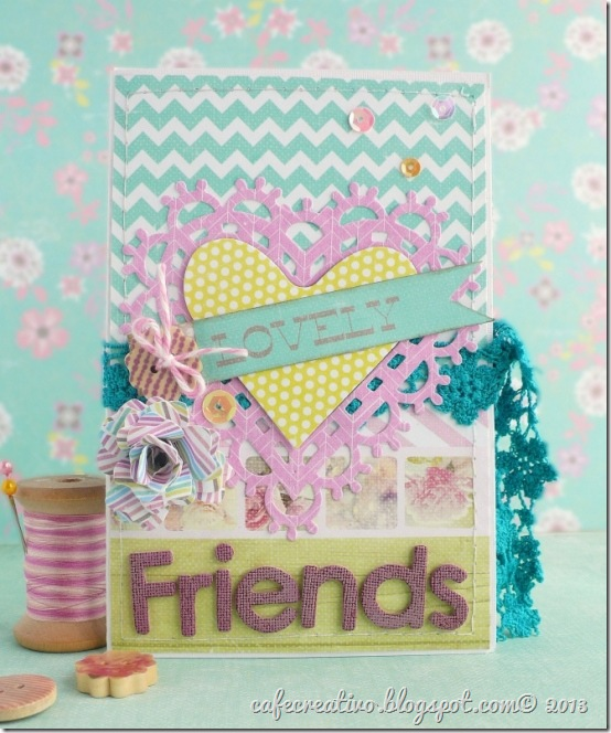 cafe creativo -  Sizzix-Prima - mini album card - frends (1)
