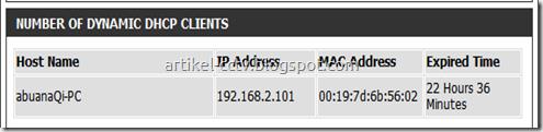 list client dhcp