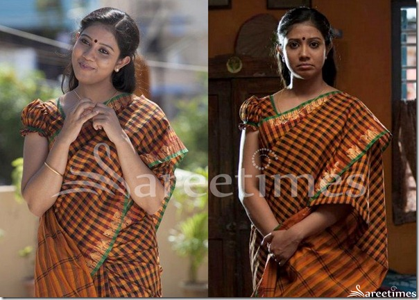 Rachana_Narayanankutty_Ruffled_Sleeves_Saree_Blouse