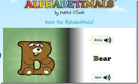 alfabetul englez cu animale