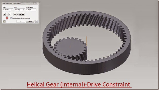 Helical Gear (Internal) - Drive Constraint