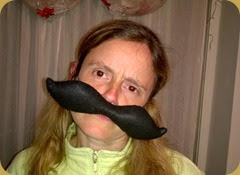 Cathy face moustache