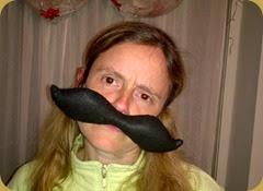 Cathy face moustache