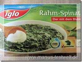 Rahm Spinat Blubb