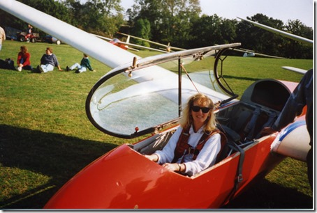 Linda's first gliding lesson