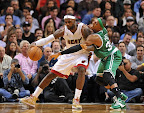 lebron james nba 121030 mia at bos 23 LeBron Sports Championship Gold LBJ X in Miami Heat Opener