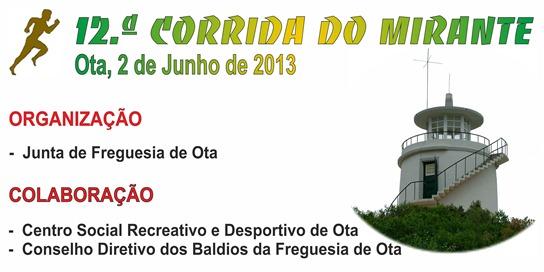 Corrida Mirante - 2013 - Organizacao
