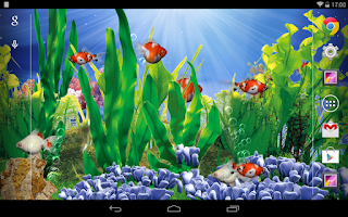 Screenshot of 3D Goldfish Live Wallpaper
