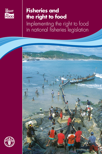 Cover of the FAO report, 'Fisheries and the right to food: Implementing the right to food in national fisheries legislation', October 2012.