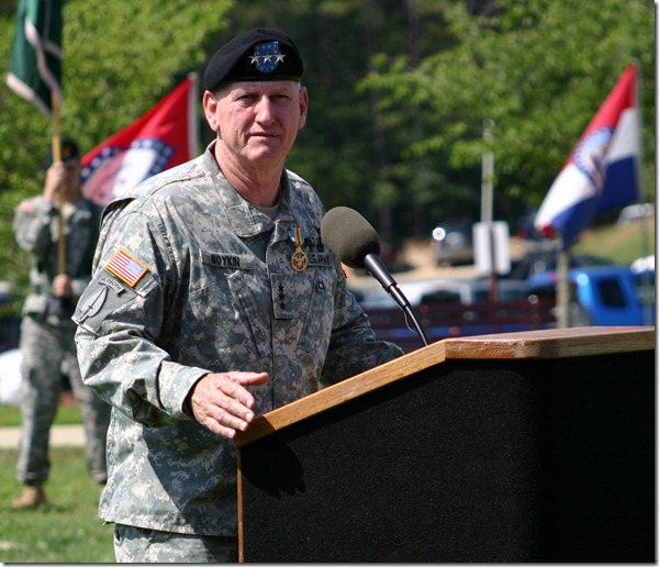 Lieutenant General Boykin's retirement ceremony