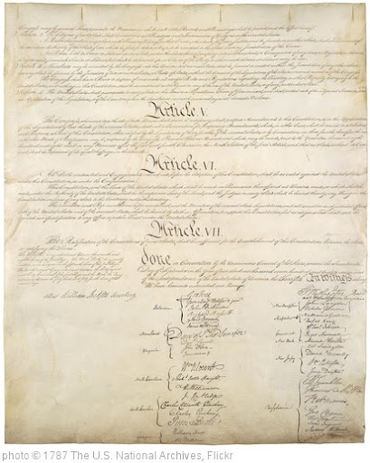 'Constitution of the United States, Page 4/4' photo (c) 1787, The U.S. National Archives - license: http://www.flickr.com/commons/usage/