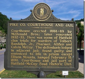 Pike Co. Courthouse and Jail marker 1866 in Pikeville, KY