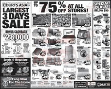 Courts Asia Largest 3 Days Sale 2013 Singapore Deals Offer Shopping EverydayOnSales