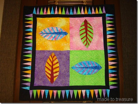 foundation pieced wall hanging
