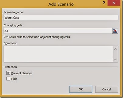 Scenario Analysis in Excel - 3rd Scenario