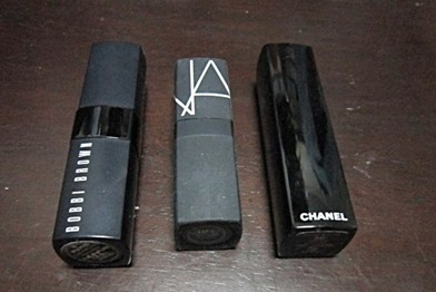 bobbi brown, nars and chanel lipsticks, bitsandtreats