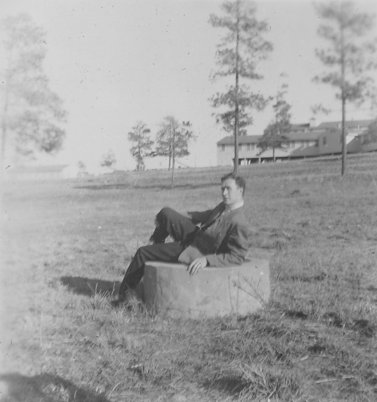 Friend of Edgar Sandifer posing at Camp Polk, Louisianna. 1951.
