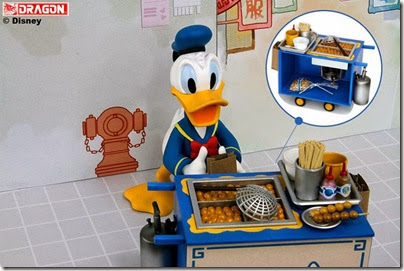 Donald Duck selling curry fish ball 03