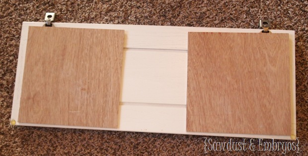 Creating an organization station on the inside of your cabinet door! {Sawdust and Embryos}