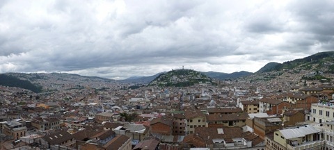 Southern Quito (and the Virgen) from the Basilica.