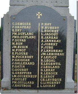 Plaque du monument de Ginchy