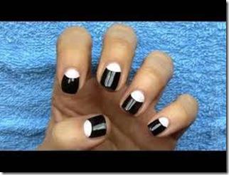 imagen de pintar las uñas con diseño sencillo facil