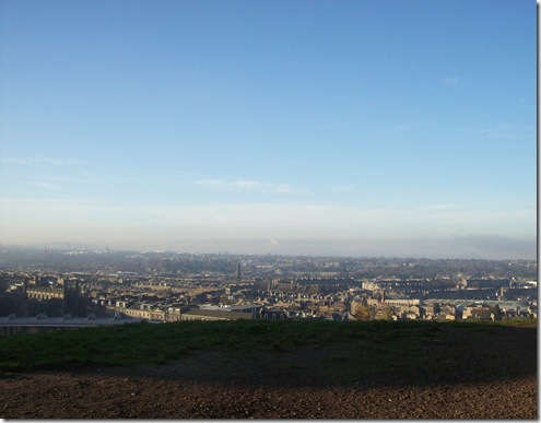 Edinburgh to the north Calton hill