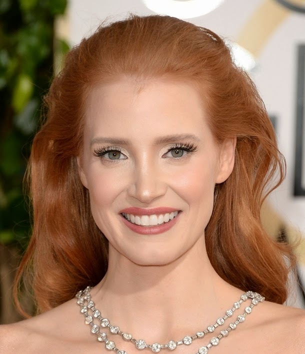 BEVERLY HILLS, CA - JANUARY 12:  Actress Jessica Chastain attends the 71st Annual Golden Globe Awards held at The Beverly Hilton Hotel on January 12, 2014 in Beverly Hills, California.  (Photo by Jason Merritt/Getty Images)