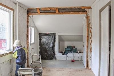 Barnkammare under restaurering. Foto: Erika Åberg