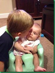 MJ kissing Catelin bumbo