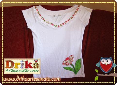 … Passo a passo de Como fazer blusinha decorada com patch aplique