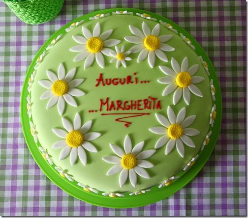 torta margherite bianche e verdi