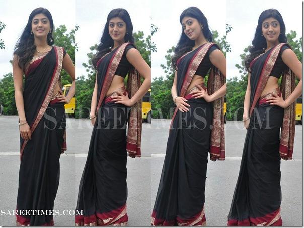 Pranitha_Black_Designer_Saree