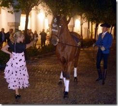 bailando caballos andaluces