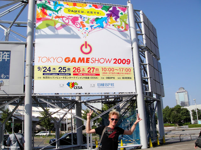 matt at the tokyo game show 2009 in japan in Tokyo, Tokyo, Japan