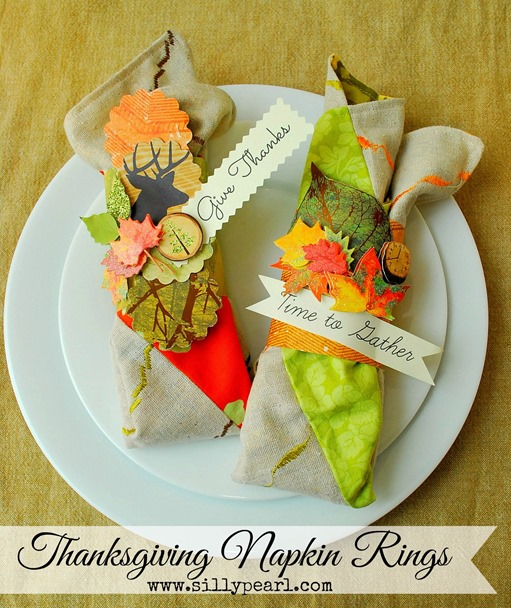 Thanksgiving Napkin Rings - The Silly Pearl